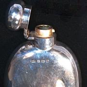 Curved Sterling Hip Flask - Marston & Bayliss, 1921 Birmingham - Not Monogrammed