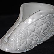 Olde Virginia Milk Glass Shoe/Bootee - Daisy & Button