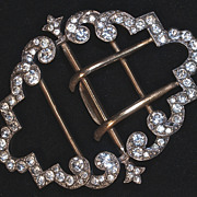 Fabulous Heavy Rhinestone Belt Buckle - Large