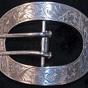 Large Sterling Belt Buckle
