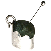 Tiny 1822 Victorian Chatelaine Pin Cushion - Sterling