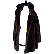 SCHIAPARELLI PARIS Classic Mink Jacket/Coat - Almost Black
