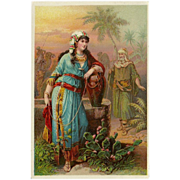 SOLD Trade Card 1800's Rebecca at the Well - Dr. Jayne's Expectorant