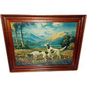 R. Atkinson Fox Print of Hunters Paradise - Two Dogs