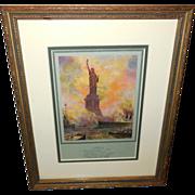 F. R. Harper Statue of Liberty 1916 Calendar Print