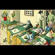 SOLD Max Kunzli Dressed Cats Postcard by Mainzer - Artist Class