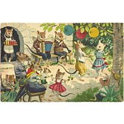 SOLD Max Kunzli Dressed Mice Postcard by Mainzer - Outdoor Party