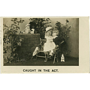 Bamforth Real Photo Postcard of Dolls and Toys