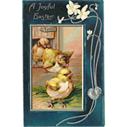 Embossed PFB Easter Postcard with Chicks