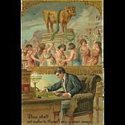 SOLD Embossed PFB Ten Commandment Postcard - 2 of 10