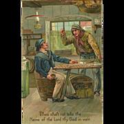 SOLD Embossed PFB Ten Commandment Postcard - 3 of 10