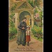SOLD Embossed PFB Ten Commandment Postcard - 4 of 10