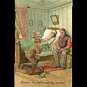 SOLD Embossed PFB Ten Commandment Postcard - 5 of 10