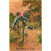 SOLD Embossed PFB Ten Commandment Postcard - 6 of 10