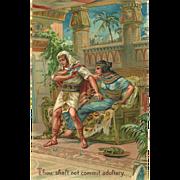 SOLD Embossed PFB Ten Commandment Postcard - 7 of 10