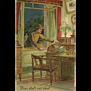 SOLD Embossed PFB Ten Commandment Postcard - 8 of 10