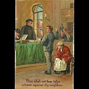 SOLD Embossed PFB Ten Commandment Postcard - 9 of 10