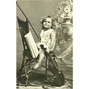 SOLD Rotophot Real Photo Postcard of Young Girl Playing Violin