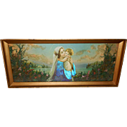 SOLD Mary and Baby Jesus Embellished with Greenery and Iridescent Butterfly Wings and Flowers