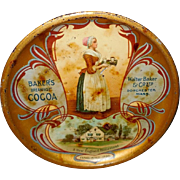 Baker's Breakfast Cocoa Advertising Tray