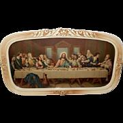 SOLD Vintage Print of The Last Supper by Zatzka Pseudonym Zabateri