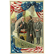 SOLD Raphael Tuck Embossed Postcard of Abraham Lincoln's Inauguration as President