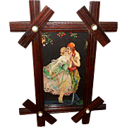 Small Marygold Tsanya Vintage Print of Romantic Couple