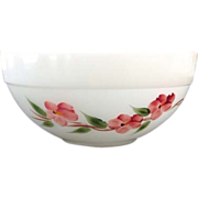 REDUCED Gay Fad Peach Blossom Fire King Colonial Kitchen Mixing Bowl