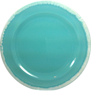 SOLD 1960s Hull Crestone Turquoise Dinner Plate