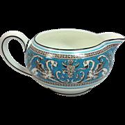 SALE Wedgwood Bone China Florentine W2714 Turquoise with Fruit Center 146 Shape Creamer