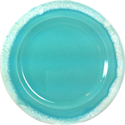 SOLD 1960s Hull Crestone Turquoise 7-5/8 inch Salad Plate