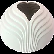 SOLD Rosenthal Studio Line 1970s Modern Matte White Porcelain Vase