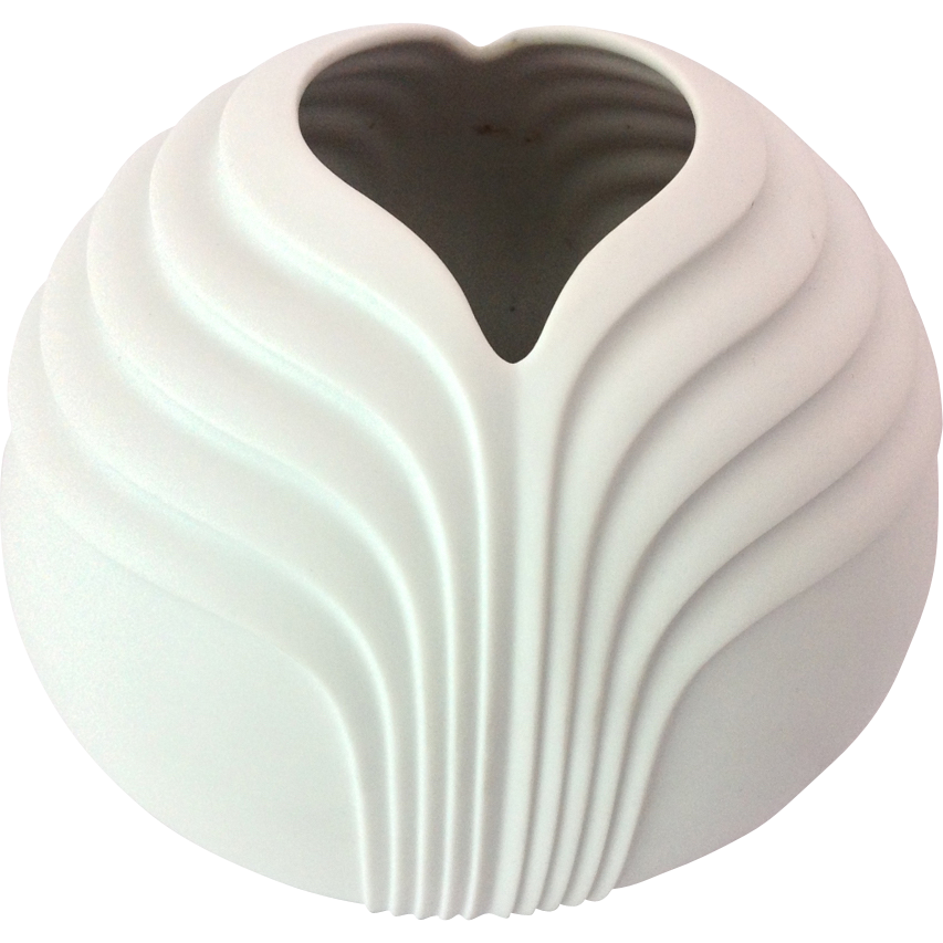 rosenthal studio line 1970s modern matte white porcelain vase from