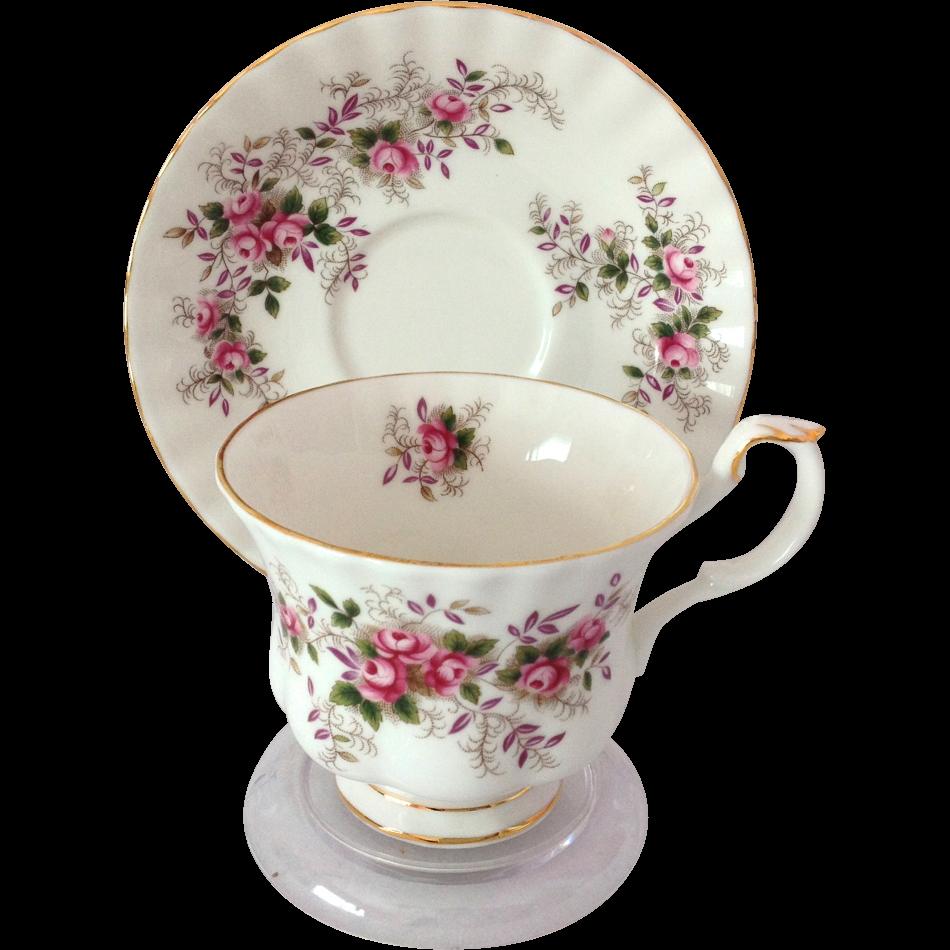 Royal Albert Bone China Lavender Rose Tea Cup and Saucer ...
