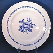 SOLD Newport Pottery circa 1930s 'Blue Rose' Dinner Plate England