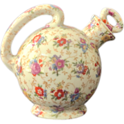 SOLD Floral Chintz Ball Shaped Cruet Made in Japan