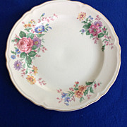 SOLD Edwin Knowles Columbia Floral Vintage 1940s 1950s Dinner Plate