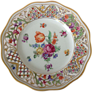 SOLD Schumann Bavaria US Zone Château Dresden Flowers Reticulated 7-1/2 inch Plate