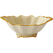 Lenox Embossed Double Leaf Oval Sauce Dish