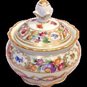 SOLD Schumann Germany Dresden Garland Covered Sugar Bowl