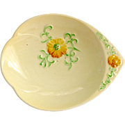 Carlton Ware Buttercup Embossed Salad Ware One Handle Jelly Dish