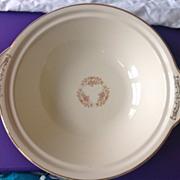 SOLD Paden City Marlene Lace Floral Rimmed Tab-Handled Vegetable Bowl