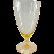 Standard Glass #1200 Cut Paneled Optic 10-Ounce Footed Ice Tea Tumbler Circa 1930s