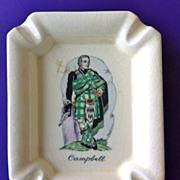 Scotsman Campbell Clan Ashtray Plichta London England