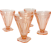 Jeannette Adam Pink Depression Glass Footed Tumbler