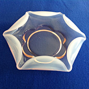 Duncan Canterbury Pink Opalescent Gardenia Bowl