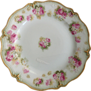 SOLD Haviland Limoges France Pink Roses Plate for T. Eaton Co. Toronto - Red Tag Sale Item