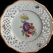 Schumann Bavaria Pierced Rim Small Dresden Floral Plate