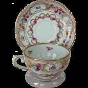 REDUCED Schumann Bavaria Dresden Garland Floral Cup and Saucer
