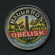 Advertising Pocket Mirror for Obelisk Flour